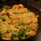 Sesame Garlic Shrimp with Fettuccine and Broccoli Florets