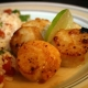 Oriental Glazed Scallops and Zesty Veggie Rice
