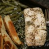 Baked Halibut with sides