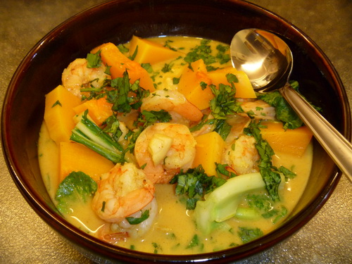 shrimp spicy coconut shrimp soup thai coconut pumpkin shrimp pumpkin ...